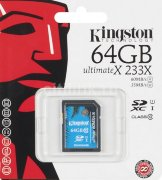 Карта памяти Kingston SD HC 64GB Class 10