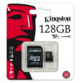 Карта памяти Kingston MicroSD 128Gb Class10 UHS-I + SD адаптер